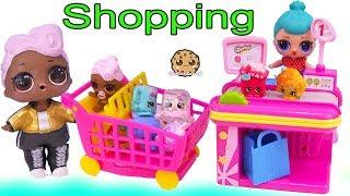 LOL Surprise Dolls Shopping At Shopkins Store + Surprise Blind Bags