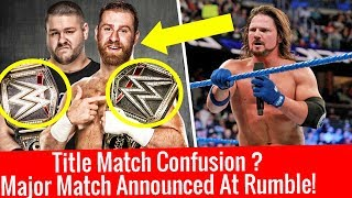 Championship Match Confusion ? At Royal Rumble ! WWE Smackdown live 2/1/2018 Highlights January 2
