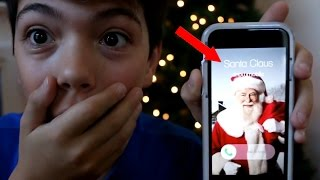 CALLING THE REAL SANTA CLAUS! *HE ANSWERED* OMG!