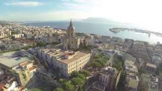 Messina panoramica vista dall'alto sopra Cristo Re