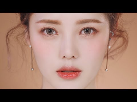 Glowy Coral Makeup (With Subs) 촉촉 코랄 메이크업