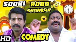 Velainu Vandhutta Vellaikaaran Soori and Robo Shankar Comedy | Vishnu | Niku Galrani