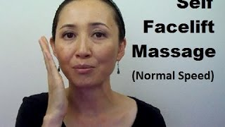 Anti-Aging Fat Reducing Tanaka Self Facelift Massage (Normal Speed) - Massage Monday #307