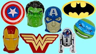 Lots of SUPERHERO Treat Containers! Avengers, Justice League Spiderman Hulk In Real Life IRL / TUYC