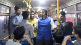 Funny Dance with Song at Picnic Bus