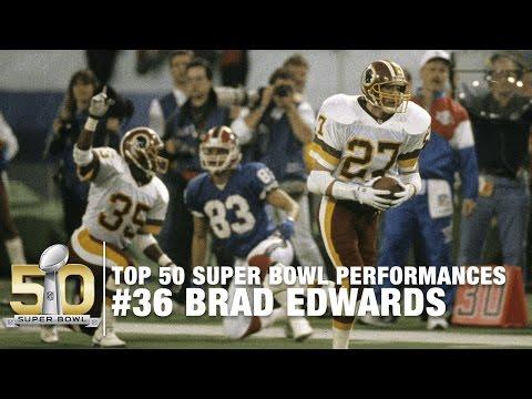 #36: Brad Edwards Super Bowl XXVI Highlights   Top 50 Super Bowl Performances