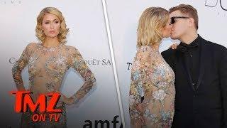 Paris Hilton Poses at Cannes After Fiance Chris Zylka Fixes Her Dress | TMZ TV