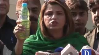 Nusrat Sehar Abbasi Media Talk Outside Sindh Assembly