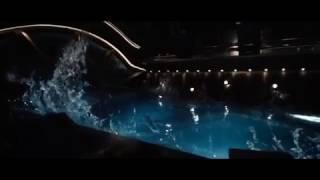 Passengers movie scene swimming pool