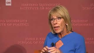 Harvard students taunt Betsy DeVos