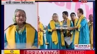 PM Hasina's emotional speech on accepting D.lit from Kaji Nazrul University