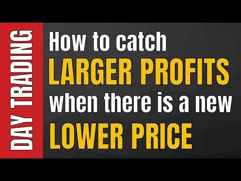 Day Trading: How to catch larger profits when there is a new lower price