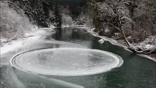 Mysterious Ice Circle Spins in Washington State River
