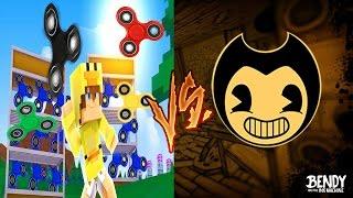 Minecraft BENDY & THE INK MACHINE vs FIDGET SPINNERS - BENDY STEALS THE LITTLE CLUBS FIDGET SPINNERS