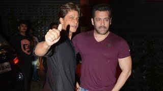 Shah Rukh Khan With Salman Khan At His GRAND Diwali Party 2017