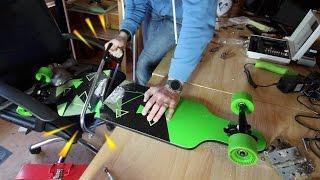 Making a folding longboard