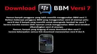 Download bbm Versi 7 -DOWNLOAD BBM Blackberry versi 7