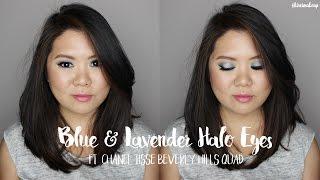Blue & Lavender Halo Eye Makeup ft. Chanel Tissé Beverly Hills Quad | Kirei Makeup