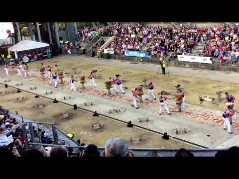 600mm Butchers Block standing block team of two 1st division final Sydney 2017