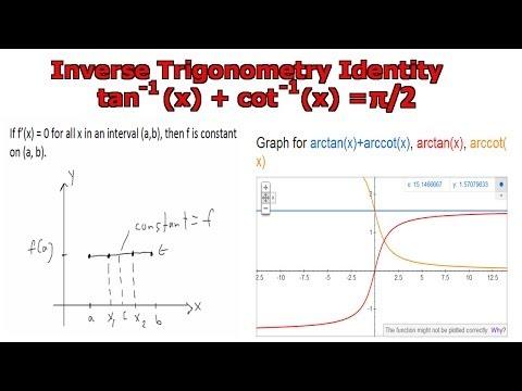 Inverse Trig Identity: arctan(x) + arccot(x) = pi/2