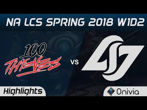 Xxx Mp4 100 Vs CLG Highlights NA LCS Spring 2018 W1D2 100 Thieves Vs Counter Logic Gaming By Onivia 3gp Sex