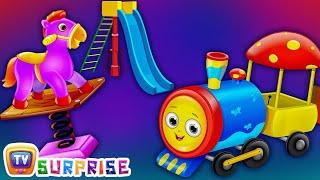 ChuChu TV Surprise Eggs Nursery Rhymes Toys | Three Little Kittens Park | Learn Colours & Play Items