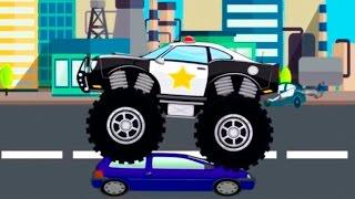 Monster Truck Stunt Chase | Monster Truck Videos For Kids | Monster Trucks For Children