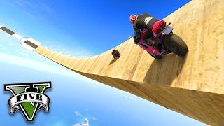GTA V Online: O WALLRIDE ÉPICO de MOTOS no CHILLIAD!