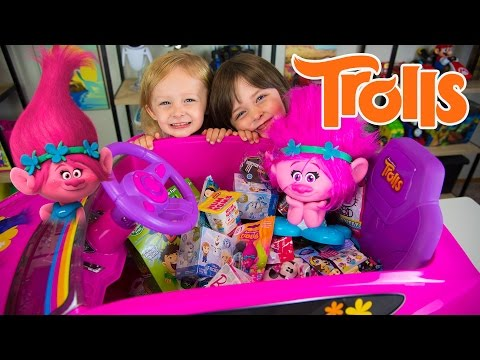 Xxx Mp4 HUGE Trolls Movie Surprise Car Toy Surprise Eggs Girl Toys Slime Baff Dreamworks Kinder Playtime 3gp Sex