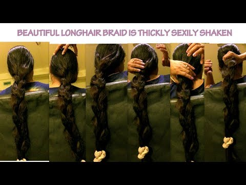 A BEAUTIFUL LONGHAIR THICK BRAID SHAKING OF INDIAN RUPANZEL