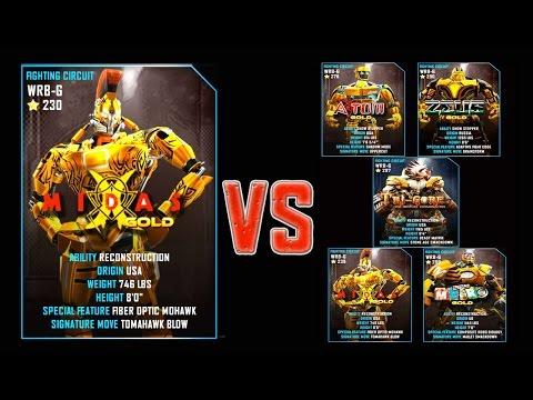 Real Steel WRB FINAL Midas Gold Series of fights GOLD NEW ROBOT (Живая Сталь)