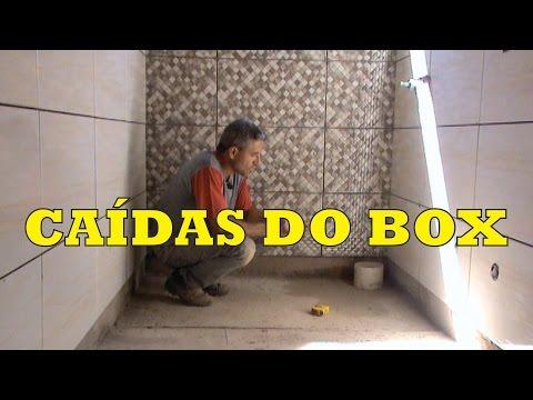 COMO FAZER AS CAIDAS NO BOX DO BANHEIRO