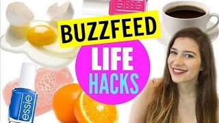 BuzzFeed LIFE HACKS!!! WEIRD Hacks All Girls Need to Know!!!