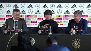 DFB Pressekonferenz mit Joachim Löw & Leon Goretzka 07.10.17