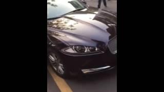Parking lot fight (Range Rover VS Jaguars)