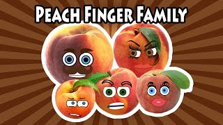 Peach Finger Family Song Nursery Rhymes for Kids | Learning Fruits