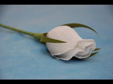 Бутон розы с конфетой из гофрированной бумаги мастер класс