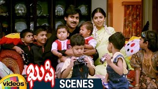 Pawan Kalyan and Bhumika's 17 Kids in Guinness Book | Climax Scene | Kushi Telugu Movie Scenes