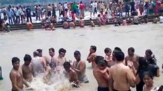 girls and boys having fun at Har ki pauri  Haridwar