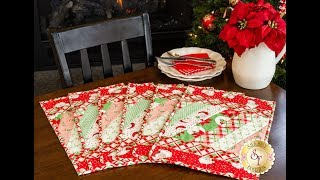 How to Make the Quilt-As-You-Go Placemats from June Tailor | A Shabby Fabrics Sewing Tutorial