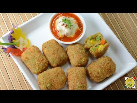 Crunchy Vegetable Nuggets   - By Vahchef @ vahrehvah.com