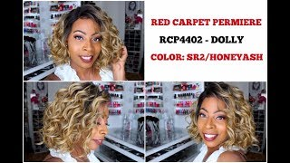 RED CARPET PREMIERE 4x4 Swiss Lace Front Wig | RCP4402 DOLLY | Color: SR2/HONEYASH