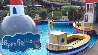 Peppa Pig World Boat Ride Peppa's Big Ballon Ride Mongolfières et Bateau Paultons Park