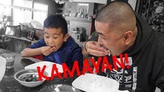 TEACHING CJ HOW TO EAT WITH HIS HANDS | KAMAYAN NA