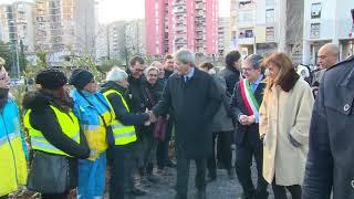 Gentiloni a Catania - Cabina di regia Comune-mondo produttivo e visita agli Orti Sociali Urbani