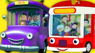the wheels on the bus go round and round | nursery rhymes | vehicles song | kids rhymes