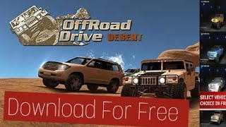 (hindi)  How to Download offroad drive desert for free(#3)