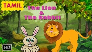 Panchatantra Stories - The Lion & The Rabbit - Tamil Moral Story for Children - Animated Cartoons