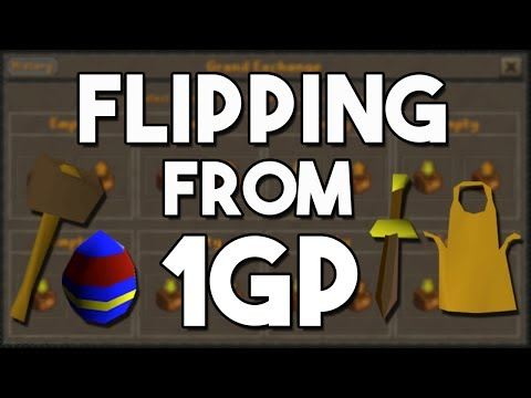 Flipping with 1GP in F2P, Is it Even Possible? Oldschool Runescape Flipping Challenge! [OSRS]