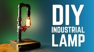 DIY INDUSTRIAL LAMP WITH FAUCET SWITCH - HOW TO 💡